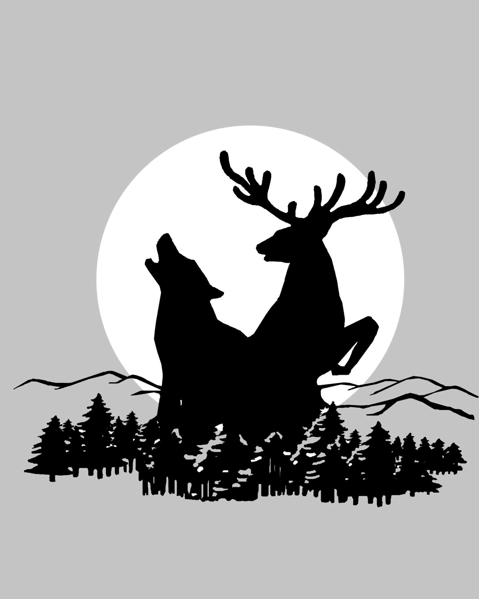 森林白鹿超清电脑壁纸